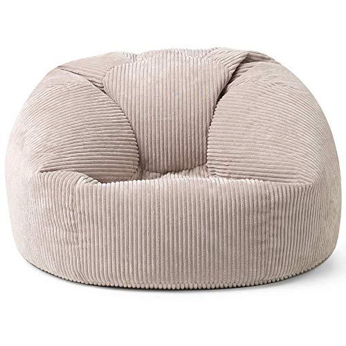 """Icon Klassischer Sitzsack """"Kingston"""", Cord, Groß, Sitzsäcke für das Wohnzimmer, Schlafzimmer, Sitzsack-Sessel für Erwachsene"""