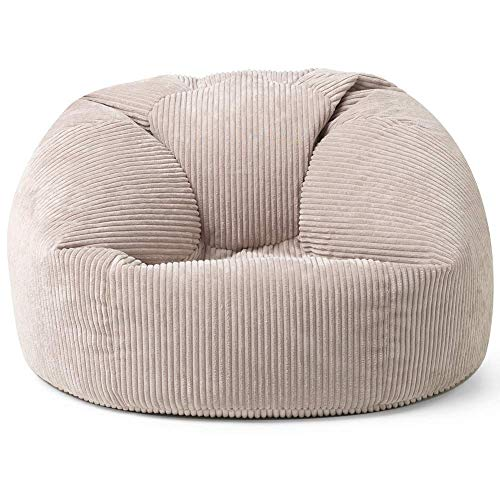 icon Soul Kingston Classic Cord Bean Bag Chair, Large Jumbo Cord Snuggle Seat, Living Room Bean Bags for Adults