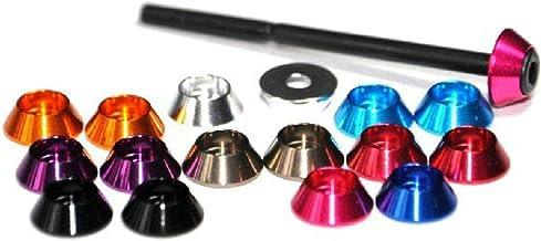 20 Stks Verschillende Kleuren Aluminium Wasmachines voor Core hoofd Schroeven, M2, M2.5, M3, M4, M5, M6-M3, Oranje