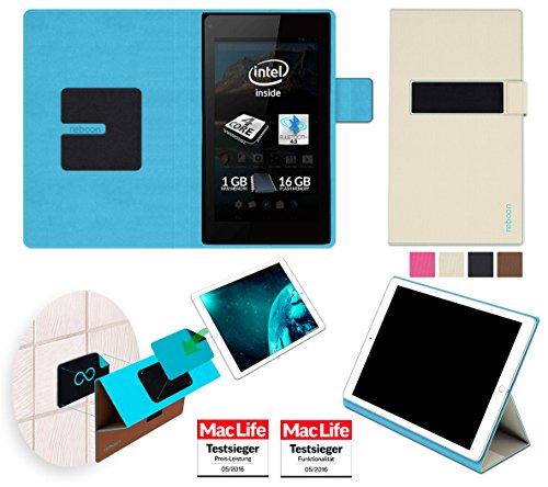 reboon Hülle für Allview WI7 Android Tasche Cover Case Bumper | in Beige | Testsieger