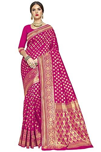 Glory Sarees Women's Kanchipuram Art Silk Saree With Blouse Piece