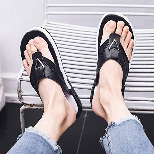 Shukun Tongs Hommes Sandales et Pantoufles Sandales en Plein air pour Hommes Pantoufles pour Hommes été Non-Slip Chaussures de Plage Hommes personnalité Flip Flops Hommes