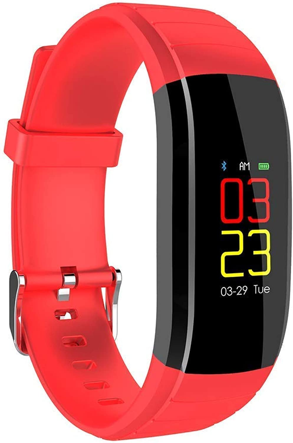 Smart IP67 Waterproof Fitness Tracker Activity Tracking Watch, Smart Bracelet With Pedometer, Fitness Watch With Heart Rate Monitor, Monitor Watch (color   RED)