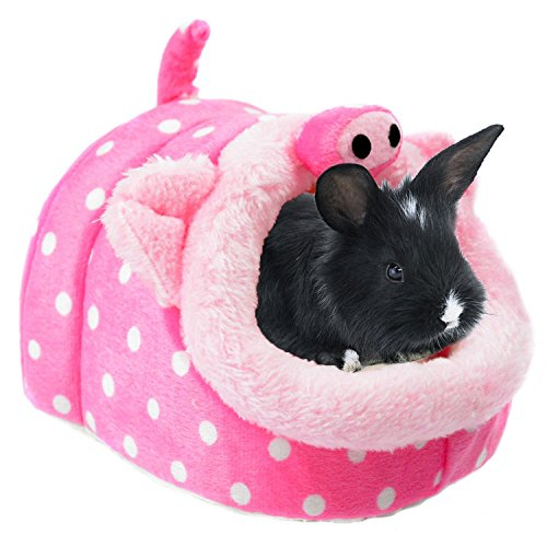 Bwogue Conejo Cobaya Hámster cama casa mascota para animales pequeños invierno caliente la jaula de ardilla Hedgehog Chinchilla para dormir