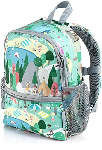 TA Trend Atelier Kinderrucksack für Kindergarten - nachhaltig - 100{a51316574ef5eb28174adc81bc235b3eb4235822762aac993ce2513469bbf896} recyceltes Polyester - mit Brustgurt und Reflektoren