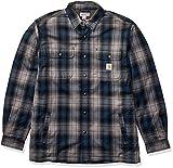Carhartt Men's Hubbard Sherpa Lined Shirt Jacket (Regular and Big & Tall Sizes), Twilight, Large