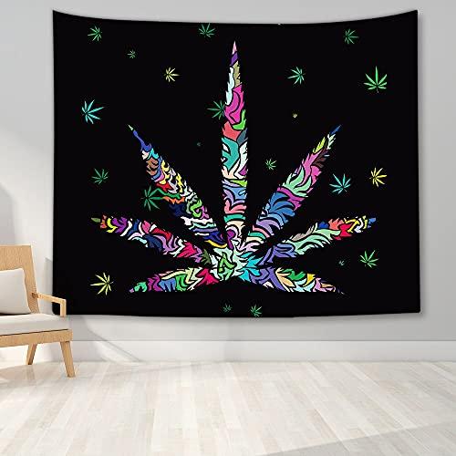 PPOU Tapiz Hippie Tapiz de Paz y Amor Tapiz de Hojas Coloridas Tapiz psicodélico Tapiz Art Deco Decoración de Pared A4 150x200cm