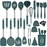 Silicone Kitchen Cooking Utensils Set with Holder,23 Pcs Heat Resistant Kitchen...