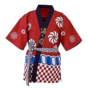 DRAGON SONIC Unisex Workwear Apparel Japanese Chef Coat Sushi Chef Jacket Kitchen Uniform,B
