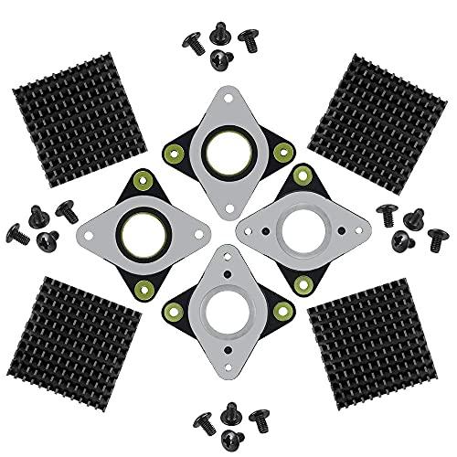 IWILCS NEMA 17 Schwingungs Dämpfer, Schrittmotor Stoßdämpfer aus Stahl und Gummi mit M3-Schraube und Kühlkörper für die CNC-Maschine Creative CR-10, 3D-Drucker, 4 Stück
