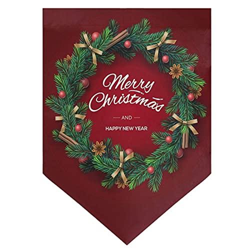 OMNHGFUG Guirnalda de Navidad con bandera de jardín de Navidad de doble cara para decoración de patio al aire libre, 30 x 45 cm