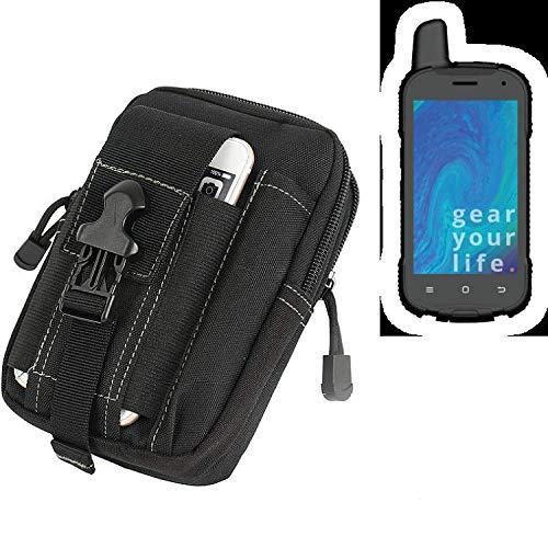 K-S-Trade Gürtel Tasche Für Ruggear RG720 Gürteltasche Holster Schutzhülle Handy Hülle Smartphone Outdoor Handyhülle Schwarz Zusatzfächer