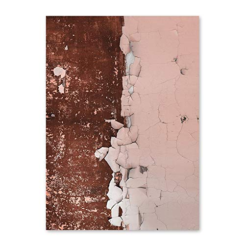 N / A Modern abstract rusty pink print canvas print painting mural art poster picture living room home decoration frameless canvas painting A2 50x70cm