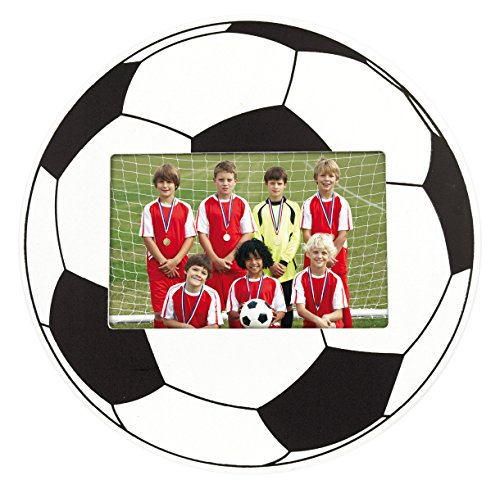 ZEP PW3096 - Cornice per Foto, Motivo: Pallone da Calcio, 9 x 6 cm Legno Bianco/Nero