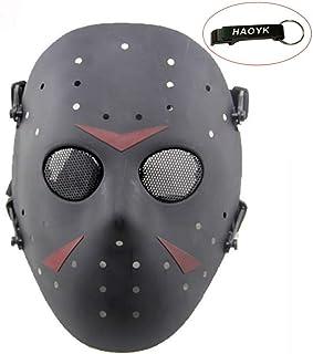 comprar comparacion Máscara de Jason de Haoyk CS Games, máscara de malla, metal y cobre con protección completa de la cara, para Halloween, fi...