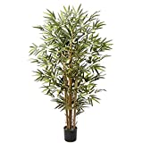 Artificial Bamboo Tree in Pot 4ft Fake Greenery Silk Plants for Home Office Indoor Outdoor Decor