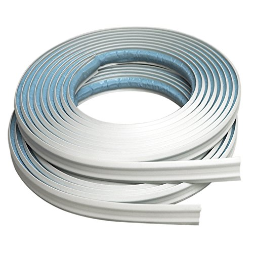 Instatrim 1/2 Inch (Covers 1/4' Gap) Flexible, Self-Adhesive, Caulk and Trim Strips for Floors, Ceilings, Countertops and More (White, 10ft Long, 2 Pack)