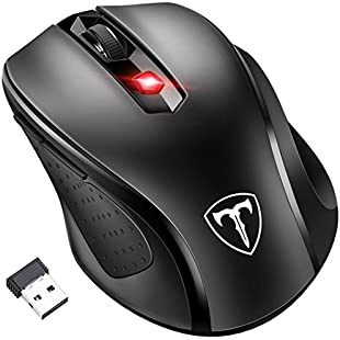 Customer reviews [Updated Version] Wireless Mouse, Patuoxun 2.4G USB Wireless Mice Optical PC Laptop Computer Cordless Mouse with Nano Receiver, 6 Buttons, 2400 DPI 5 Adjustment Levels for Windows Mac Macbook Linux - Super Energy Saving, Black