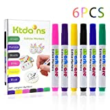 Edible Markers,Food Coloring Markers,Food coloring Pens,6 Colors Food Grade pen,Thick Tip and Fine...