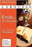 Emile - Traité d'éducation de Jean-Jacques Rousseau (19 novembre 2008) Poche - 19/11/2008