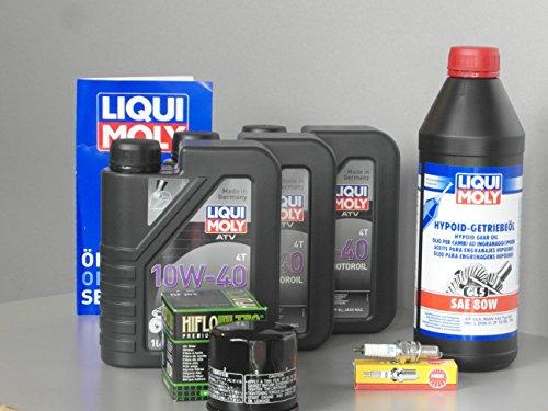 Kit d'entretien et de service pour quad Yamaha YFM 450 Wolverine huile filtre bougie d'allumage