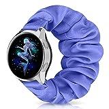 Correa de reloj de 20 mm con patrón floral, banda elástica para mujer, patrón de pulsera de repuesto suave clásico para Samsung Galaxy Watch Active/Active 2 (20 mm S, R azul)