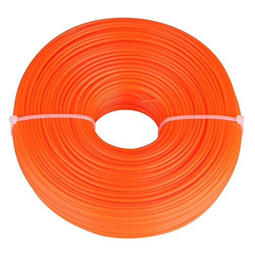 Línea de recortadora de 2,4mm, cable de nailon resistente, hilo redondo, línea de cable para recortadora de césped de gasolina para jardín(100m)