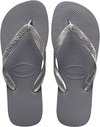 Havaianas Top Tiras, Infradito Donna, Argento (Steel Grey), 37/38 EU