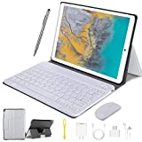 [page_title]-4G LTE Tablet Touchscreen 10 Zoll, Android 9.0 2 in1 Tablet mit Tastatur 4 GB RAM und 64 GB ROM, 8000 mAh 5.0 MP 8.0 MP HD Kamera, Dual-SIM, WiFi, Bluetooth, GPS, OTG, Typ C silber