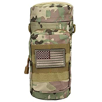 Sportmusies Military Tactical Molle Water Bottle Pouch Carry Bag for Outdoor Activities Multicam Camo