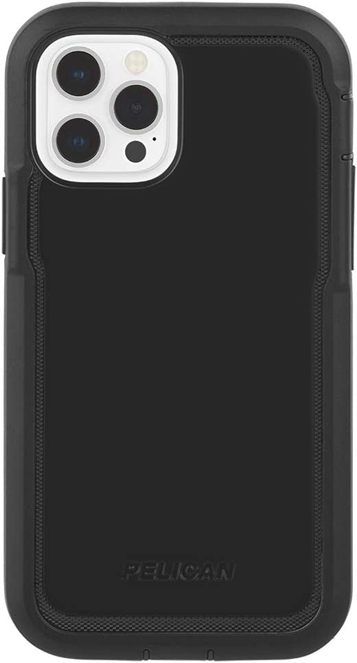 PELICAN - MARINE ACTIVE Series - Case for iPhone 12 Pro Max (5G) - 18 ft Drop Protection - Lanyard Strap - 6.7 Inch - Black
