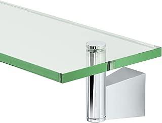 Gatco 4716 Bleu Glass Shelf, Chrome