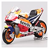 SRJCWB Modelo Motocicleta 1:18 2018 para Repsol Honda RC213V HRC No # 26 Dani Pedrosa No # 93 Marc Marquez Motocicleta Modelo Fundición De Juguetes (Color : 1)