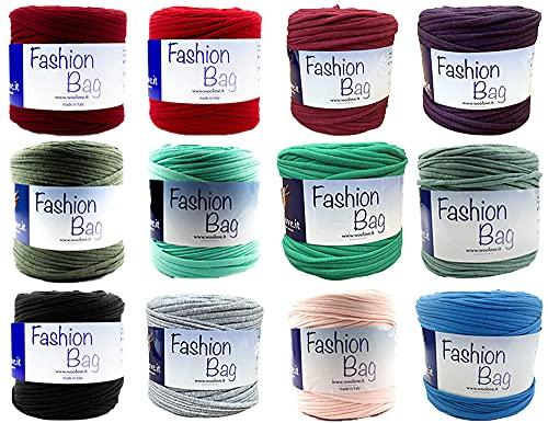 TRICOT CAFE' Promozione 3 Rocche Fashion Bag in 95% Cotone e 5% Elastan per Unicnetto - 3 Colori a Scelta