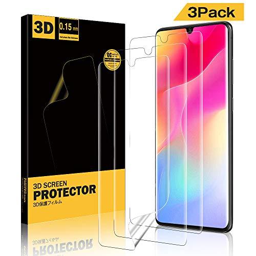 A-VIDET 3 Stück Schutzfolie für Xiaomi Mi Note 10/Mi Note 10 Pro/Mi Note 10 Lite,Fingerabdruck kompatibel, Hüllenfreundlich, Klar HD Weich TPU Schutz Displayfolie für Xiaomi Mi Note 10 Lite
