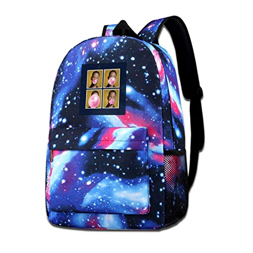 Galaxy Backpack Printed Shoulders Bag Will Smith Bubblegum Fashion Casual Star Sky Backpack for Boys&Girls