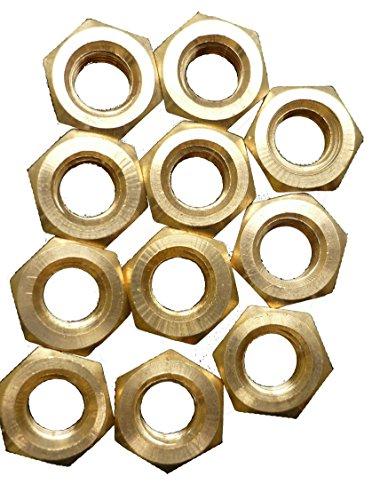 M4 25 Stück DIN934 / DIN EN ISO 4032 Sechskant Muttern Messing blank