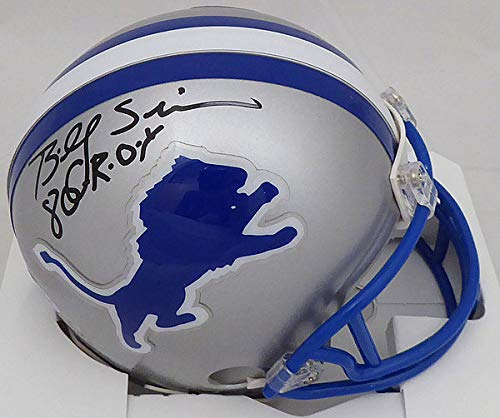 Billy Sims NFL Detroit Lions Hand Signed Mini Helmet