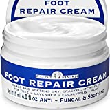 Antifungal Cream for Athletes Foot Treatment - 4oz Foot Cream for Dry Cracked Feet - Tea Tree Toenail Fungus Treatment - Powerful, Natural Anti Itch Cream with Tea Tree, Rose & Lavender Essential Oils