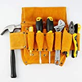 YOCOOL Bolsa de Herramientas Cuero riñonera de herramientas Gancho Porta Martillo, Carpintero, Electricista, Organizador de Trabajo Para Constructores, Bolsillos Frontales Amplios para Clavos U Otros