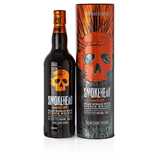 Smokehead RUM REBEL Islay Single Malt Scotch Whisky 46% Volume 0,7l in Tinbox Whisky