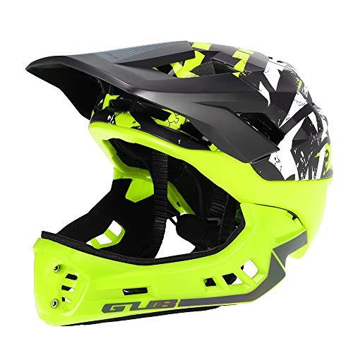 Blusea Casco Integral para Niños, Casco Modular Extraíble con Anti-cursor de Moto Esqui Bici Bicicleta Motocicleta Patinaje Cuesta Abajo Patinaje, Niño Niña