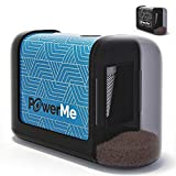 POWERME Electric Pencil Sharpener - Pencil Sharpener Battery Powered for Kids, School, Home, Office, Classroom, Artists – Battery Operated Pencil Sharpener For Colored Pencils, Ideal For No. 2
