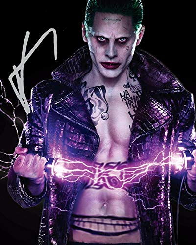DS Jared Leto - The Joker - Suicide Squad Signiert Autogramme 21cm x 29.7cm Plakat Foto