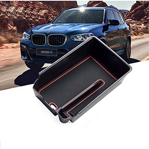 RUIYA Aufbewahrungsbox Aufbewahrungskiste Mittelkonsole Veranstalter Armlehne Box angepasst für 2018 BMW X3 G01|2019 BMW X4 G02, Konsole Organizer Box einstellen Insert Tray