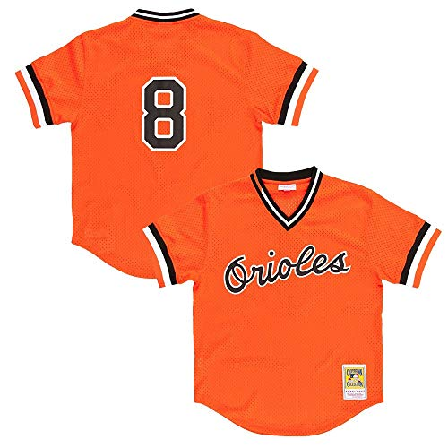 Mitchell & Ness Cal Ripken Orange Baltimore Orioles Authentic Mesh Batting Practice Jersey 3X-Large (56)