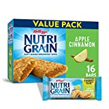 Kellogg's Nutri-Grain, Soft Baked Breakfast Bars, Apple Cinnamon, Made with Whole Grain, Value Pack, 20.8 oz (16 Count)