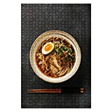 Ramen Asian Noodle in Broth with Meat and Ajitama Pickled Egg in Bowl 1000 Pieces Large Ji...