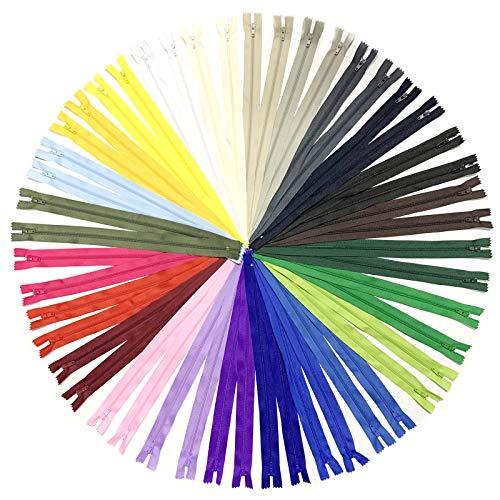 DOITEM 48 Pcs 60 cm / 24 Pouces Multicolore Nylon Bobine Tirettes pour La Couture et l'artisanat 24 Couleurs
