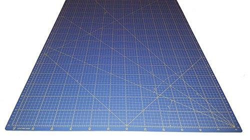 Ideas C0547 Base de corte 94x64 auto cicatrizante dealta calidad por una lado en centímetros y por el otro en pulgadas, Azul